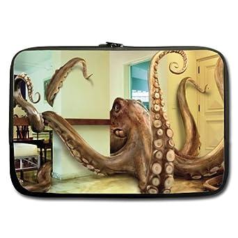 Bajo precio venta divertido pulpo arte portátil/Bolsa del ordenador portátil de 13 pulgadas (