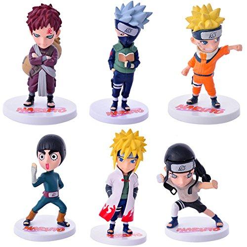 Naruto Action Figures 20 generation itachi Sasuke Obito Gaara Killer B PVC Figure Toys 6pcs/set