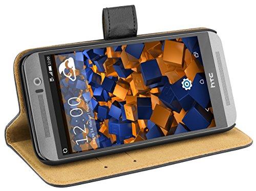 mumbi Ledertasche im Bookstyle für HTC One (M9) Tasche