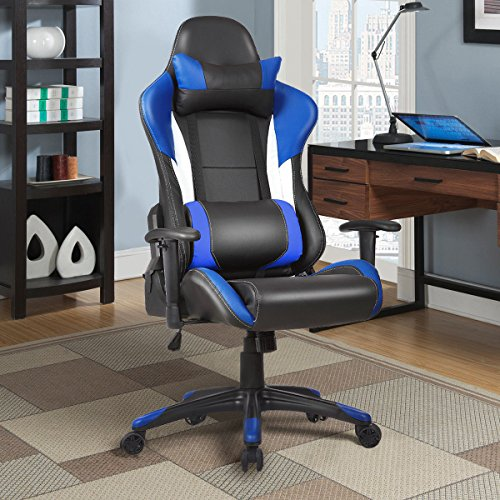 51yzmAmrBCL - Giantex-Gaming-Chair-Racing-Chair-Ergonomic-Office-Chair-w-High-Back-Lumbar-Support-and-Pillow-Executive-Computer-Task-Desk-Gaming-Chair-Blue