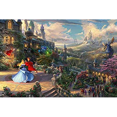 Ceaco Thomas Kinkade The Disney Collection Sleeping Beauty Enchanting Jigsaw Puzzle, 750 Pieces: Toys & Games