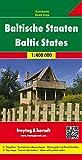 Baltische Staaten, Estland - Lettland - Litauen, Autokarte 1:400.000, freytag & berndt Auto + Freizeitkarten