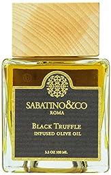 Sabatino Black Truffle Infused Oil, 3.2 Fluid Ounce