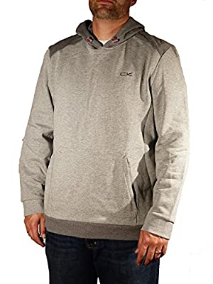 Calvin Klein Mens Performance Athletic Hooded Sweatshirt - Grey