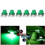 honda accord clock light bulb - CCIYU B8.5D Interior Lamp Bulb Instrument Indicator Light Bulb 1SMD 5050 Car Green LED C5W,6Pack