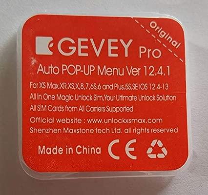 GEVEY PRO iccid Unlock Card For iPhone XS MAX XR XS 8 7 6 4G Sprint au softbank iOS 12.3.1 r-sim14 rsim 14