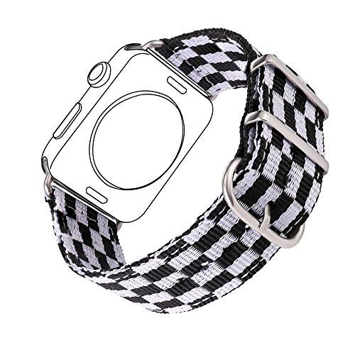 - Nylon Band for Apple Watch 42MM, Bandmax Fancy Football Style Nylon Fabrics Replacement Strap for iWatch Series 3/2/1 with Stainless Steel Classic Buckle(Football Pattern)