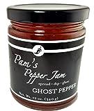 Natural Pepper Jelly - Ghost Pepper- Gluten Free - 12oz Jar by Pams Pepper Jam