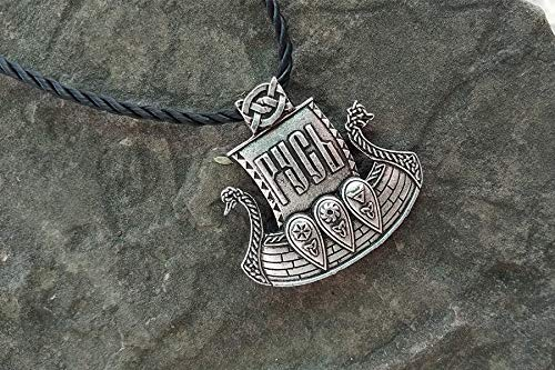 Viking Ship Pendant Jewelry Viking Men Warrior Necklace Talisman Pendant