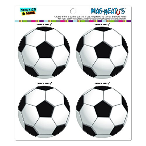 Soccer Ball Football MAG-NEATO'S(TM) Automotive Car Refrigerator Locker Vinyl Magnet Set ()