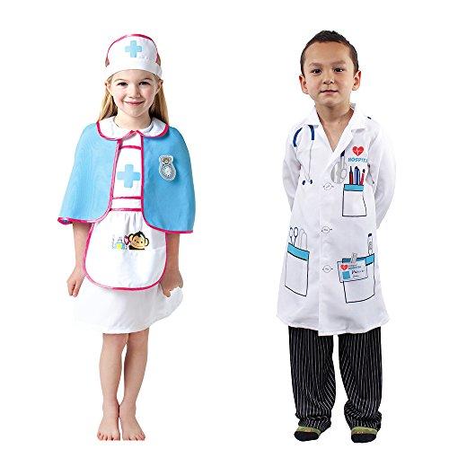 Kids Chief Surgeon Doctor Nurse Costume