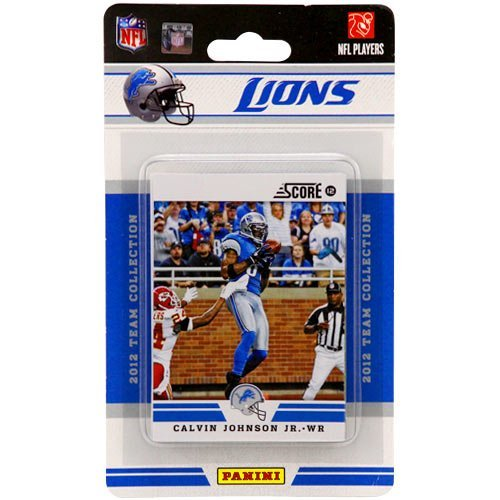 2012 Score Detroit Lions Factory Sealed 12 Card Team Set Including Matthew Stafford, Calvin Johnson, Ndamukong Suh, Nate Burleson, Jahvid Best, Kevin Smith, Stephen Tulloch, Kellen Moore, Riley Reiff, Ronnell Lewis, Ryan Browles and Brandon Pettigrew.