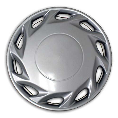 TuningPros WSC2-055S14 Hubcaps Wheel Skin Cover Type 2 14-Inches Silver Set of - Hubcaps 96 Accord Honda