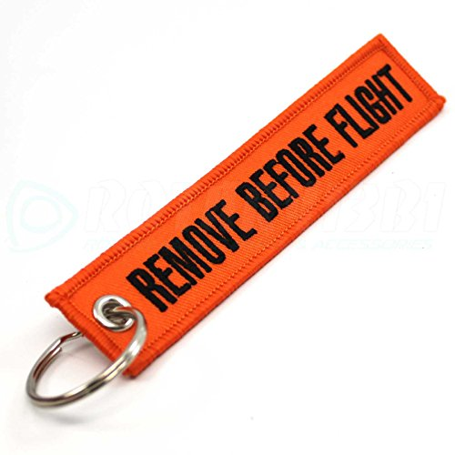 Rotary13B1 - Remove Before Flight Keychain - Orange (Remove Before Flight Clothes)
