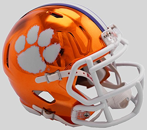 Riddell NCAA Clemson Tigers Unisex Clemson Tigers Helmet Replica Mini Speed Style Chrome Alternatehelmet Replica Mini Speed Style Chrome Alternate, Team Colors, One Size