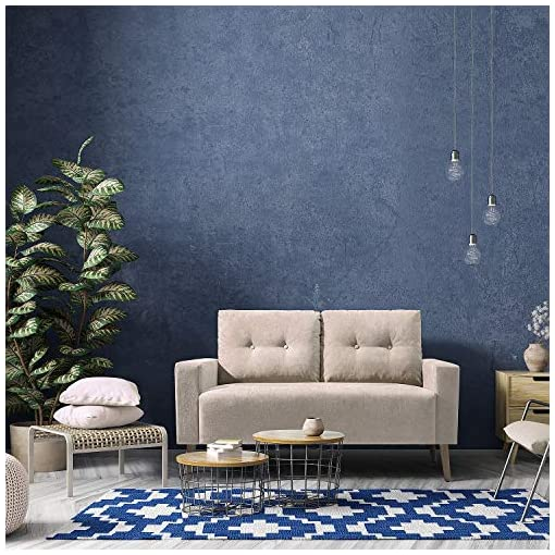 Living Room JUMMICO Modern Loveseat Sofa Fabric Couch Mid Century Love Seat with 2 Thickened Cushion and Solid Wood Frame for Living… modern sofas and couches