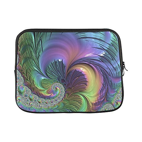 Design Custom Fractal Artwork Art Swirl Vortex Pattern Design Sleeve Soft Laptop Case Bag Pouch Skin for MacBook Air 11