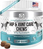 BEST HIP & JOINT SUPPLEMENTS FOR DOGS: Product of USA- Natural Pain Relief & Mobility + Аnti-inflammatory and Аnti-arthritic effects Maximum strength Glucosamine & Chondroitin- 170/190 Soft Chews