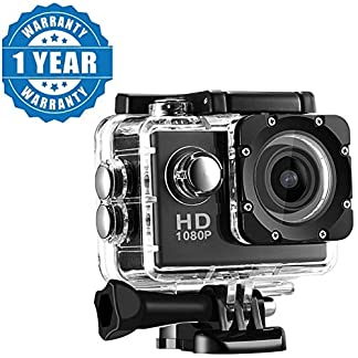 Drumstone Full HD Action Camera with 170° Ultra Wide-Angle Lens & Full Accessories (Assorted Color) 51yzqONivGL