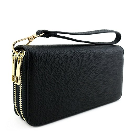 Zip Around Long Wallet (Black) - 7