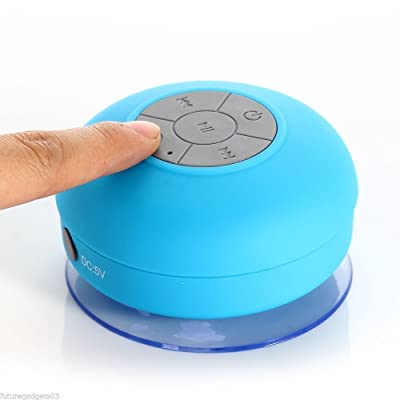 Mini Altavoz Inalámbrico Impermeable Cuarto de Baño Altavoces Bluetooth con Ventosa Aire libre Azul