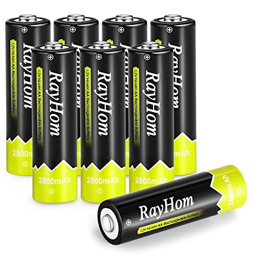 RayHom AA Rechargeable Batteries 2800mAh Ni-MH AA Pre-charged - Battery(8Pack )