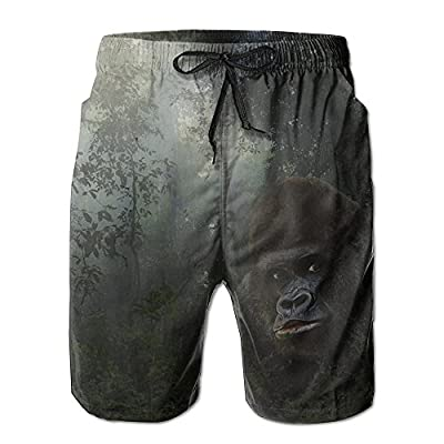 Cheap Qpkia Wild Gorilla In The Forest Men Swimwear Volley Pants Pocket for sale