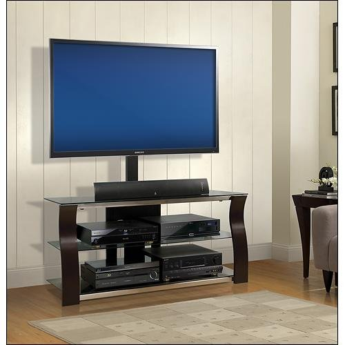 Bell'O - Triple Play TV Stand for Most Flat-Panel TVs Up to 55