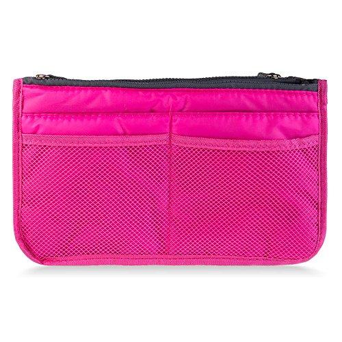 Purse Organizer Nurse Bag - Colors Make Up Organizer Bag Women Men Casual Travel Bag Multi Functional Cosmetic Storage Bag Makeup Handbag - Bag Insert - Christmas Gift(ROSE)