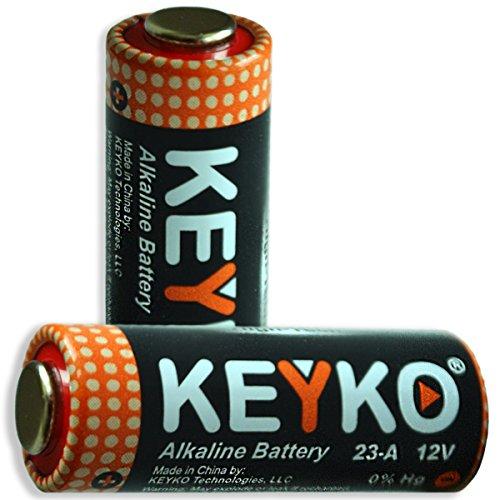A23 battery 12v alkaline genuine keyko kt 23a type a23s for 12 volt battery for garage door keypad