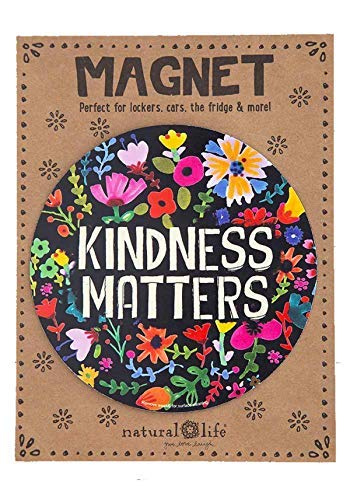 Natural Life Car Magnet Kindness Matters Floral ()