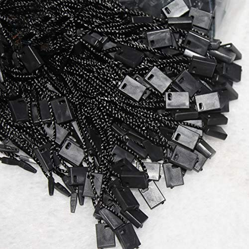 Kleidung Gep/äck und f/ür Sicherung Produkte DEK89 x4 400 St/ück H/änge Etikette Etiketten Schwarz Nylonschnur mit Schnappverschluss Pin 17.8cm f/ür Etiketten Perlin Schmuck