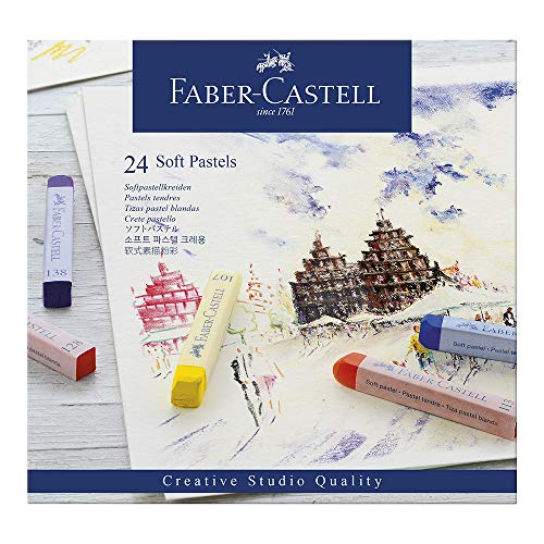 (Faber-Castell 128324 Goldfaber Studio Soft Pastel Chalks Pack of 24 Assorted Colours by ToyMarket)