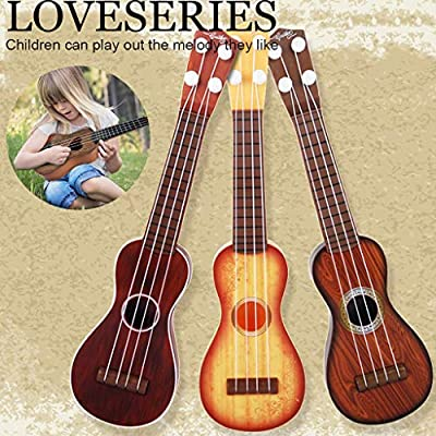 FINEjuyudd Ukulele Guitar Beginner Classical Educational Musical Instrument Toy for Kids (Coffee) : Sports & Outdoors