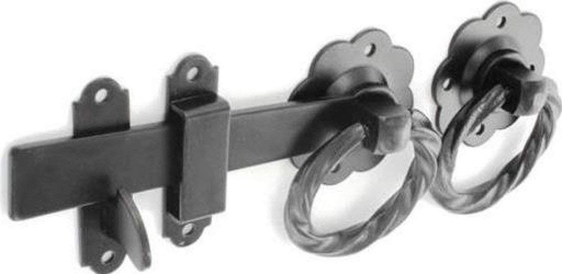 "6/"" TWISTED SILVER STEEL RING DOOR GATE CATCH LATCH"