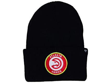 on sale a78f1 3adff  47 Atlanta Hawks Black Ice Block Cuff Beanie Hat - NBA Cuffed Winter Knit  Toque