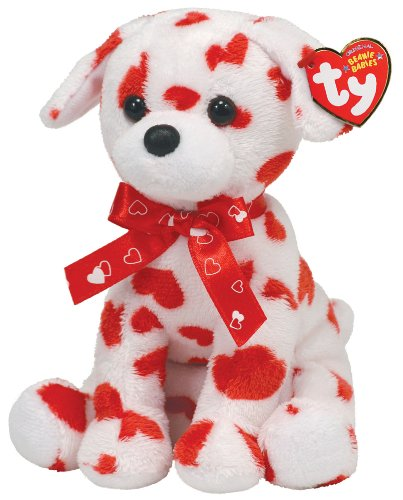 - Ty Beanie Baby Lovely  Dog with Heart Print