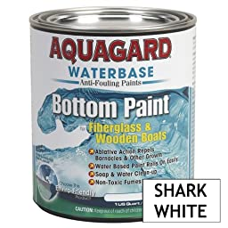Aquagard Waterbased Bottom Paint Quart Shark White
