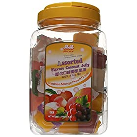 Jin Jin Assorted Fruit Lychee Mango Peach Grape Jelly Cups 52.9 oz