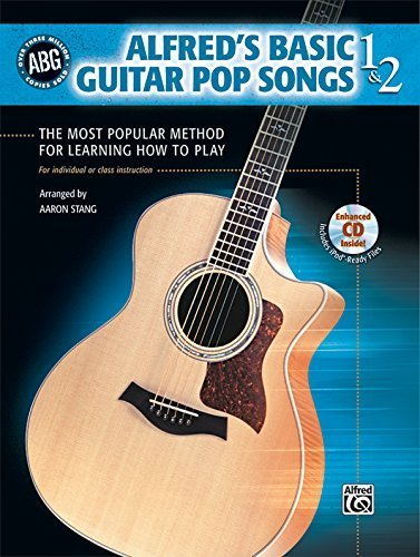 - Alfred's Basic Guitar Pop Songs, Bk 1 & 2: The Most Popular Method for Learning How to Play, Book & CD (Alfred's Basic Guitar Library) by Aaron Stang (2008-06-01)