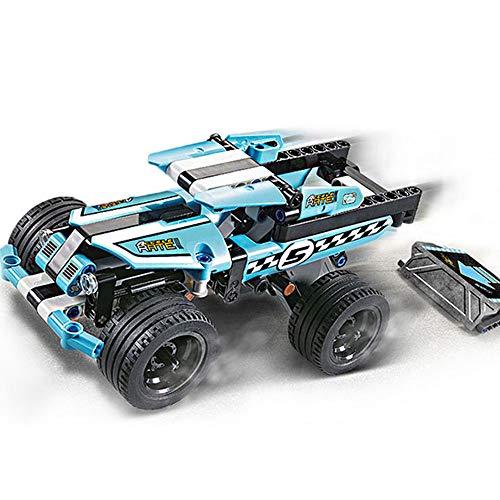 - Hanbaili Car Building Block Inertia Assembled Vehicles Small Blue Race Car Interactive Learning