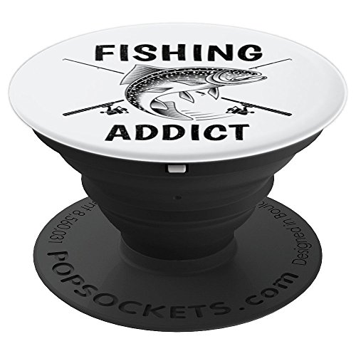 Fishing Addict Deep Sea Fly Fish Fisherman Gift - PopSockets Grip and Stand for Phones and - Addict Camo