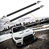 "Xotic Tech Adjustable 8""-11"" Front Bumper Lip Splitter Diffuser Strut Rod Tie Bars Fit Most Vehicles [Black]"