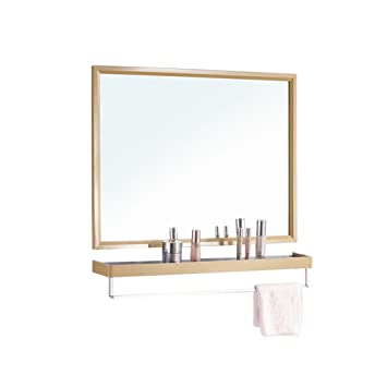 Amazoncom Hgxc Bathroom Decorative Mirror Storage Shelf Gold