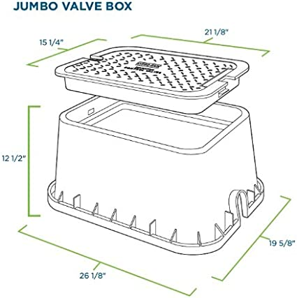 Orbit Sprinkler System 20-Inch Jumbo Rectangular Valve Box 53214