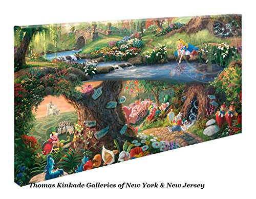 Thomas Kinkade Disney Alice in Wonderland 16 x 31 Gallery