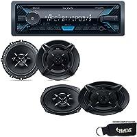 Sony DSX-A405BT Bluetooth, USB, AUX Receiver, a pair of XS-FB1630 6.5 Speakers, and a pair of XS-FB6930 6x9 Speakers