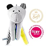 Whisbear Baby Sound Machine - The Best Sleep Soother on the Market - No More Sleepless Nights and Sleep Deprivation with this Award Winning White Noise Teddybear (Citron)