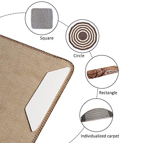 Anti Curling Rug Gripper, Non Slip Rug Pad 8 pcs for Area Rugs Pad, Double Sided Tape Work for Indoor & Outdoor Carpet Mat by IDEALCRAFT (Image #4)