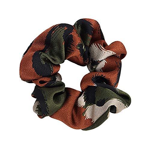 ANJUNIE Women Elastic Hair Rope Ring Hair Band Tie Scrunchie Ponytail Holder Headband(Multicolor1,Freesize) ()